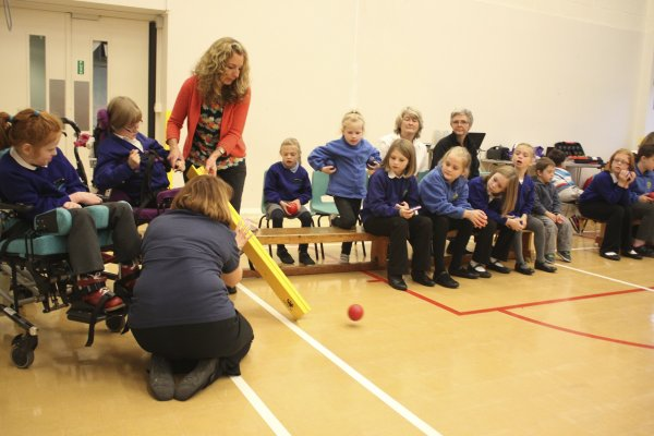 Paralympic Gold medalist at Birchwood school.