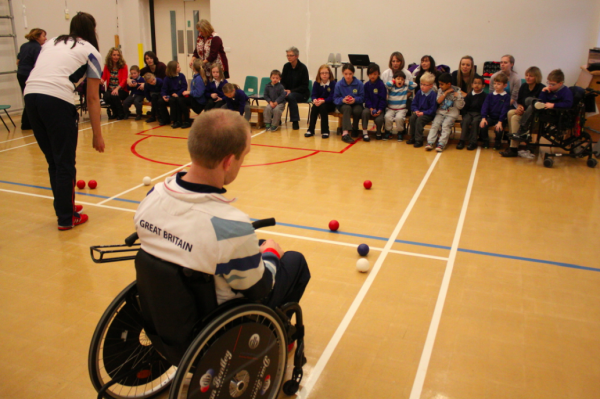 Boccia being played at Birchwood