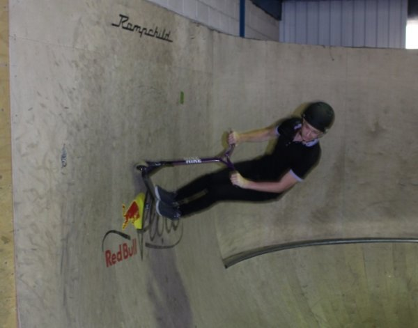 a young person skating at e sportive skate event