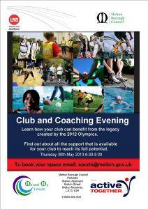 Sports club and coach Evening